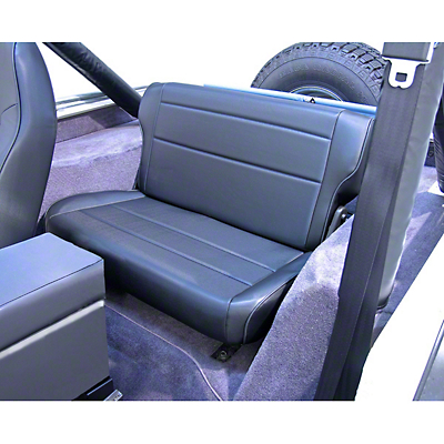 Rugged Ridge Fold & Tumble Rear Seat - Black Vinyl (87-95 Jeep Wrangler YJ)