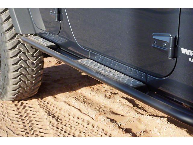 Expedition One Trail Series Rocker Guards - Textured Black (07-18 Jeep Wrangler JK 4 Door)