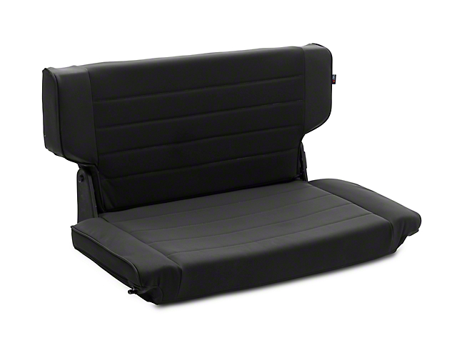 Rugged Ridge Fold and Tumble Rear Seat; Black Denim (97-02 Jeep Wrangler TJ)