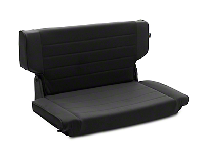 Rugged Ridge Fold & Tumble Rear Seat - Black Denim (97-02 Jeep Wrangler TJ)