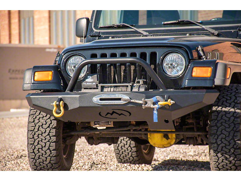 Expedition One Front Bumper - Textured Black (97-06 Jeep Wrangler TJ)