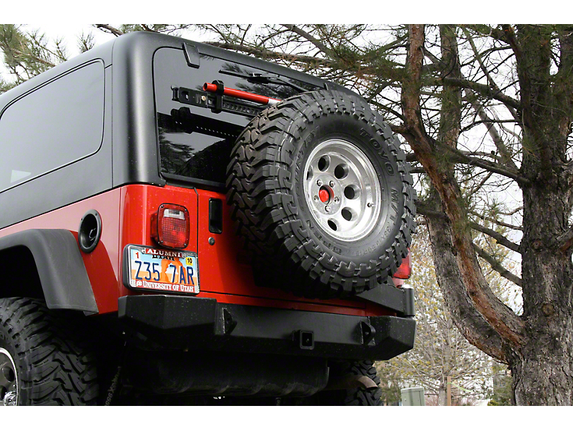 Expedition One Rear Bumper w/ Tire Carrier - Textured Black (97-06 Jeep Wrangler TJ)