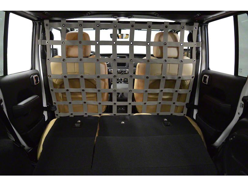 Dirty Dog 4x4 Cargo/Pet Divider - Grey (18-20 Jeep Wrangler JL 4 Door)