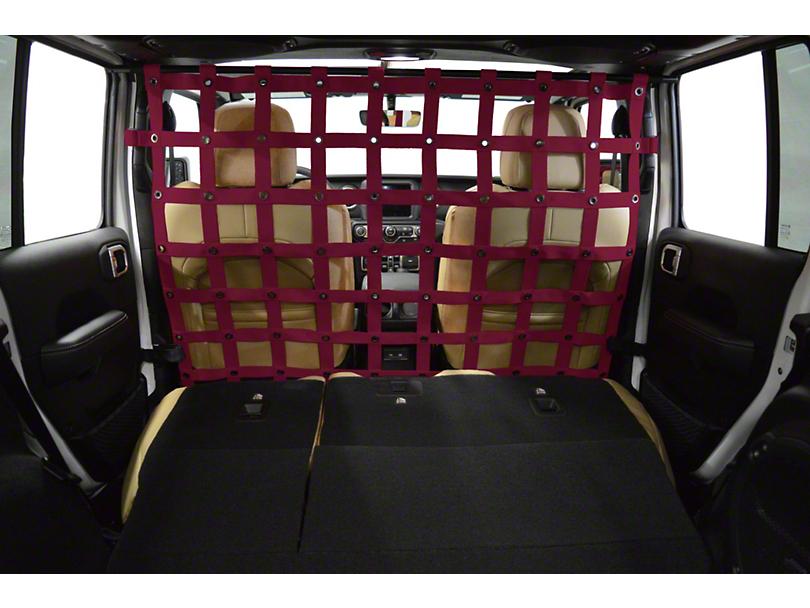 Dirty Dog 4x4 Cargo/Pet Divider - Maroon (18-20 Jeep Wrangler JL 4 Door)