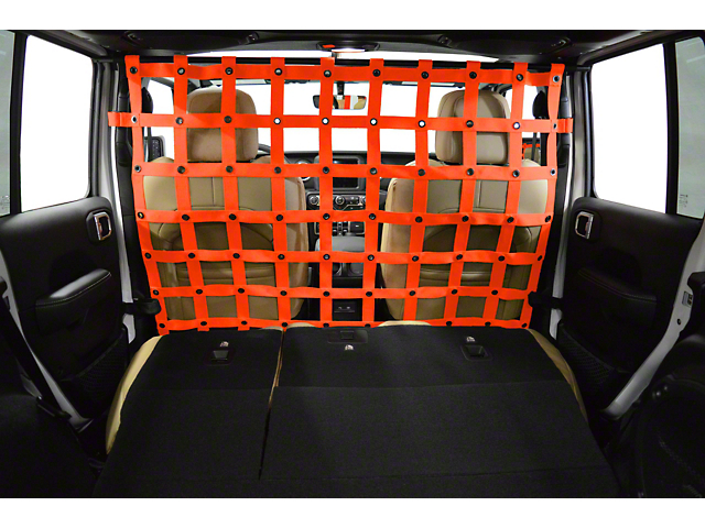Dirty Dog 4x4 Cargo/Pet Divider - Orange (18-20 Jeep Wrangler JL 4 Door)