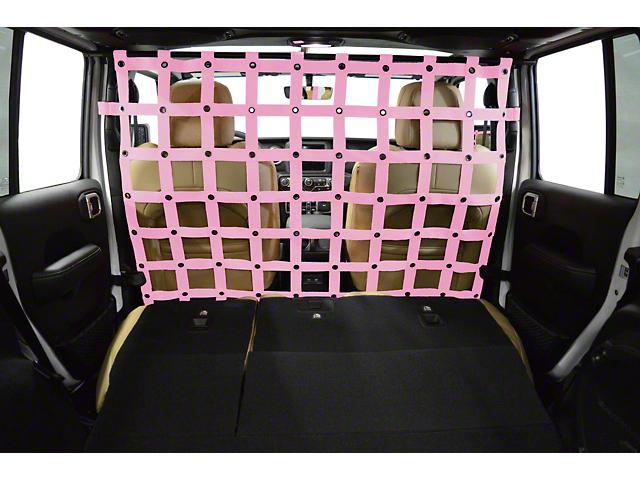 Dirty Dog 4x4 Cargo/Pet Divider; Pink (18-20 Jeep Wrangler JL 4 Door)