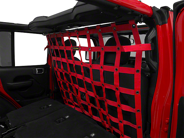Dirty Dog 4x4 Cargo/Pet Divider - Red (18-20 Jeep Wrangler JL 4 Door)