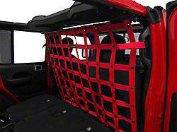 Dirty Dog 4x4 Cargo/Pet Divider; Red (18-20 Jeep Wrangler JL 4 Door)
