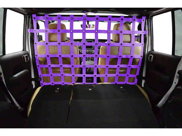 Dirty Dog 4x4 Cargo/Pet Divider - Purple (18-20 Jeep Wrangler JL 4 Door)