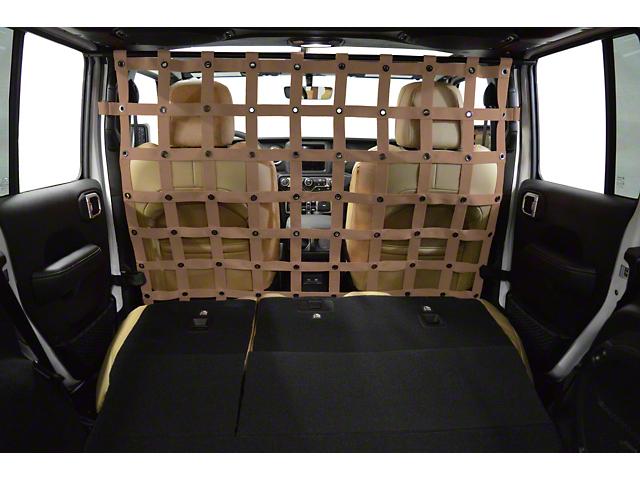 Dirty Dog 4x4 Cargo/Pet Divider - Sand (18-20 Jeep Wrangler JL 4 Door)