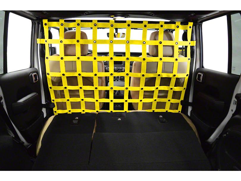 Dirty Dog 4x4 Cargo/Pet Divider; Yellow (18-20 Jeep Wrangler JL 4 Door)