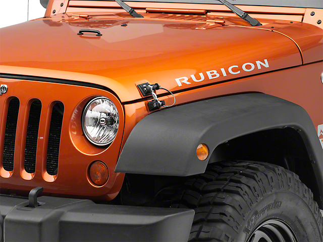 DV8 Off-Road Locking Hood Hold Downs (07-18 Jeep Wrangler JK)
