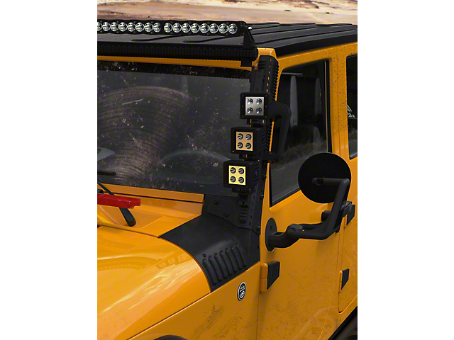 DV8 Off-Road A-Pillar Mounted Rail System (07-18 Jeep Wrangler JK)
