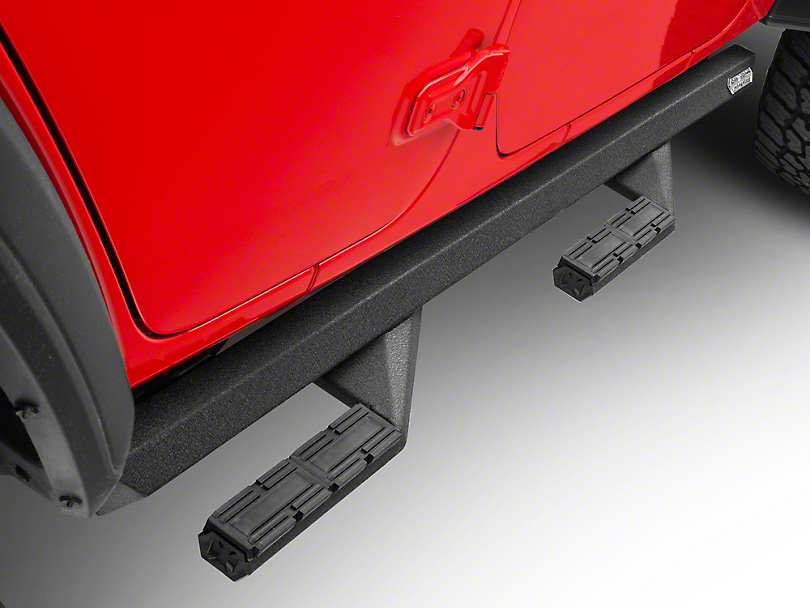 Iron Cross Side Arm Steps - Black (2018 Jeep Wrangler JL 4 Door)