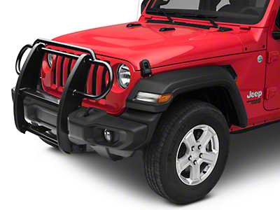 RedRock 4x4 Grille Guard - Gloss Black (2018 Jeep Wrangler JL)