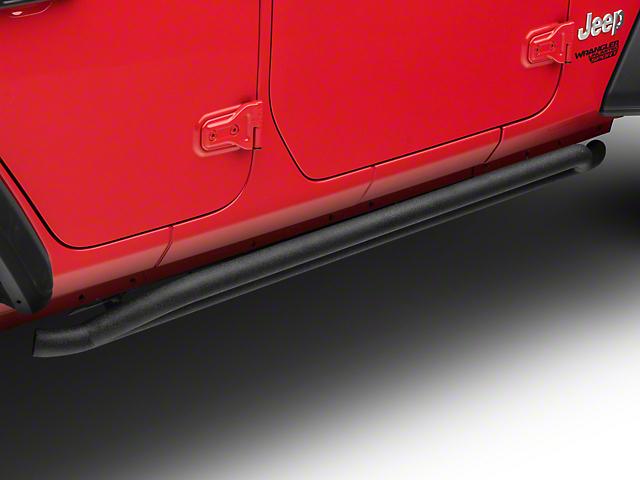 RedRock 4x4 Rocker Guards; Textured Black (18-20 Jeep Wrangler JL 4 Door)