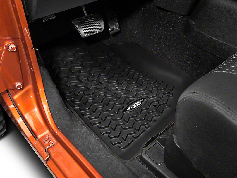 Rugged Ridge All Terrain Front Floor Liners - Black (07-13 Wrangler JK)