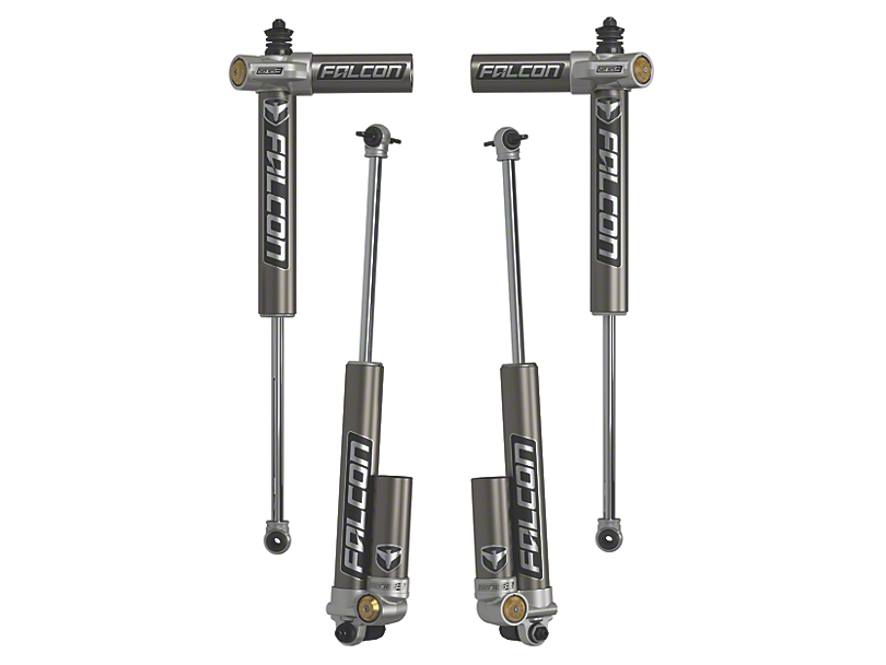 Teraflex Falcon Series 3.2 Adjustable Piggyback Front & Rear Shocks for 3-4.5 in. Lift (07-18 Jeep Wrangler JK 4 Door)