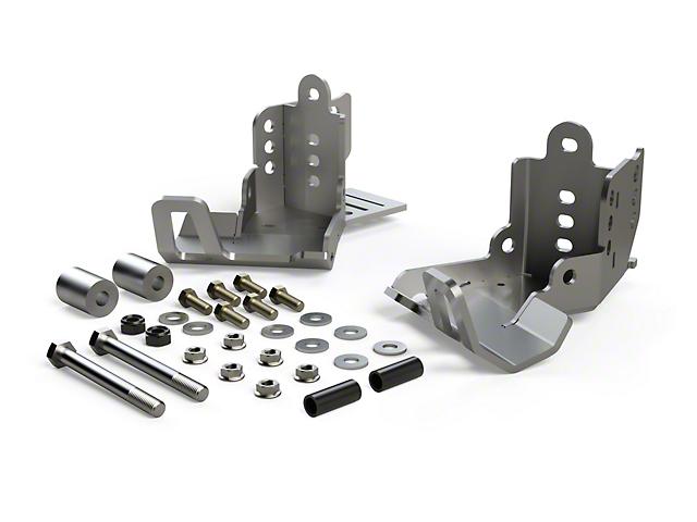Teraflex JKU HD Rear Shock Skid Plate Kit (07-18 Jeep Wrangler JK 4 Door)