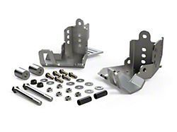 Teraflex JKU HD Rear Shock Skid Plate Kit (07-18 Jeep Wrangler JK 4 Door)