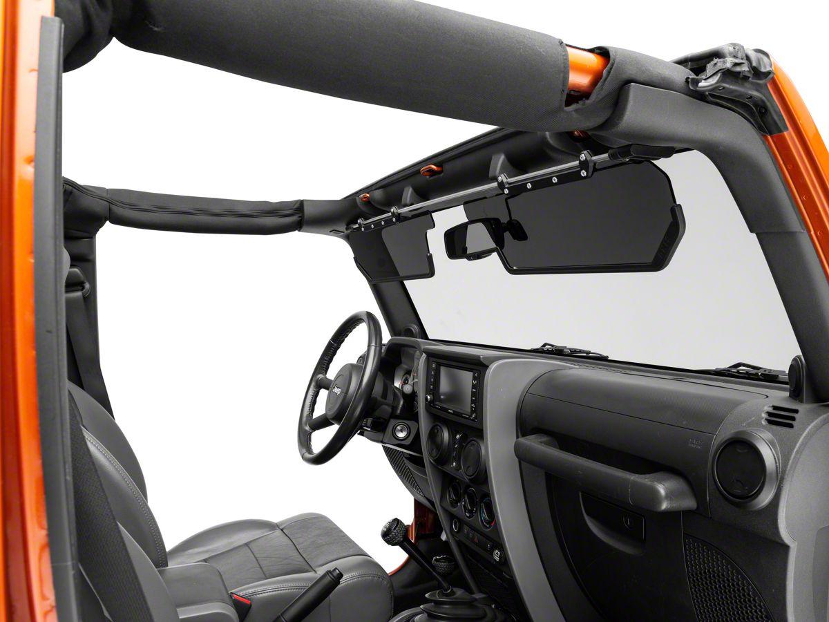 Teraflex Jeep Wrangler Axis Front Visor Kit 4840002 07 18 Jeep Wrangler Jk