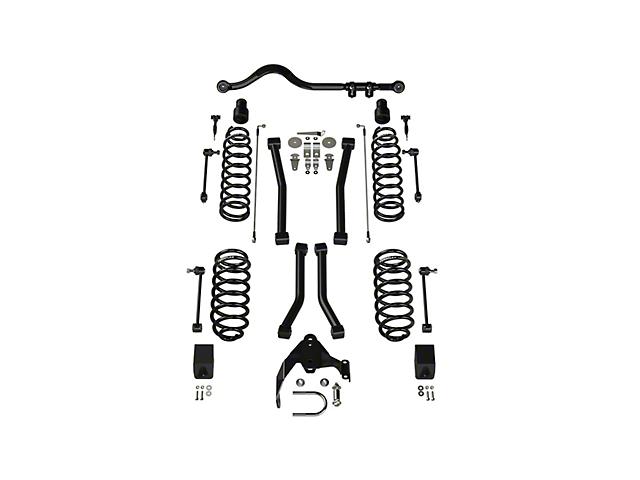 Teraflex 3 Inch Lift Suspension Lift Kit w/ 4 Sport FlexArms & Track Bar; No Shocks (07-18 Jeep Wrangler JK 2-Door)