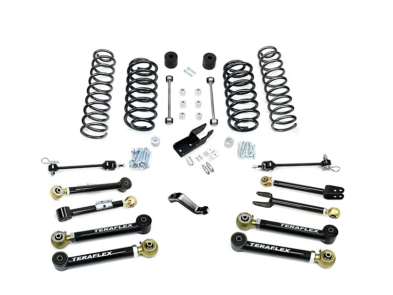 teraflex jeep wrangler 4 in  lift kit w   8 flexarms