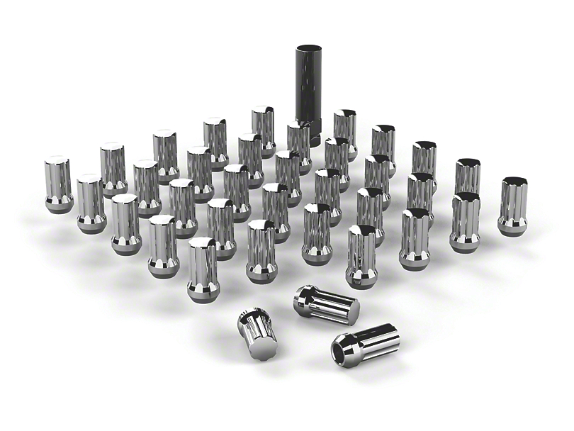 Teraflex Chrome Spline Drive Lug Nuts - 9/16 in. (87-18 Jeep Wrangler TJ, TJ & JK)