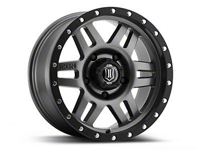 ICON Vehicle Dynamics Six Speed Gunmetal Wheels (07-18 Wrangler JK; 2018 Wrangler JL)