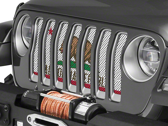 Under the Sun Grille Insert; California State Flag (18-20 Jeep Wrangler JL)
