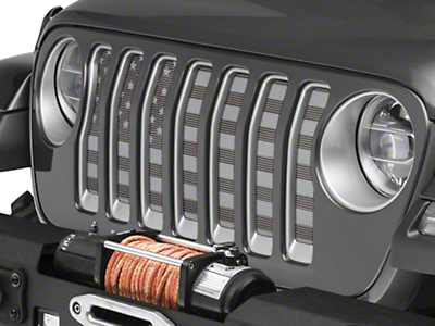 Under the Sun Grille Insert - Black Out (2018 Jeep Wrangler JL)