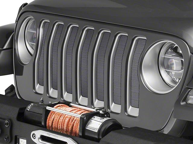 Under the Sun Grille Insert; Bright Silver Metallic (20-21 Jeep Gladiator JT)