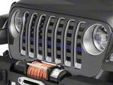Under the Sun Grille Insert; Distressed Thin Blue Line (20-21 Jeep Gladiator JT)