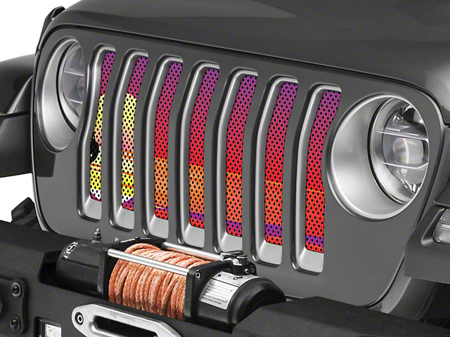 Under the Sun Grille Insert; Endless Summer Red Mermaid (18-20 Jeep Wrangler JL)