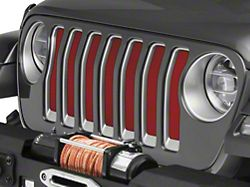 Under the Sun Grille Insert; Flame Red (18-20 Jeep Wrangler JL)