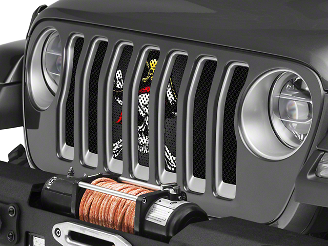 Under the Sun Grille Insert; Jolly Rogers (20-21 Jeep Gladiator JT)