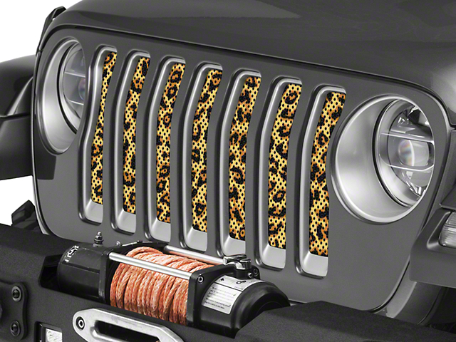 Under the Sun Grille Insert; Leopard Print (20-21 Jeep Gladiator JT)