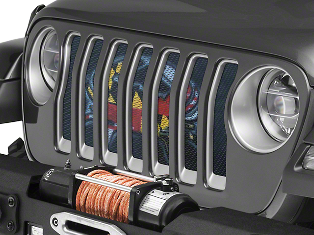 Under the Sun Grille Insert; Maryland Crab Flag (20-21 Jeep Gladiator JT)