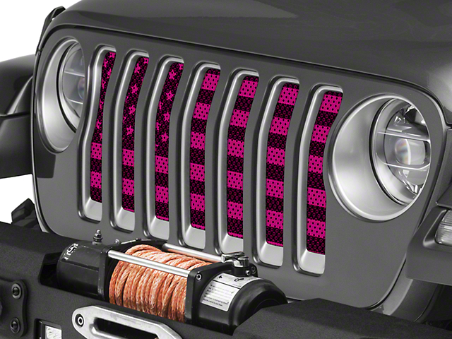 Under the Sun Grille Insert; Old Glory Pink (20-21 Jeep Gladiator JT)
