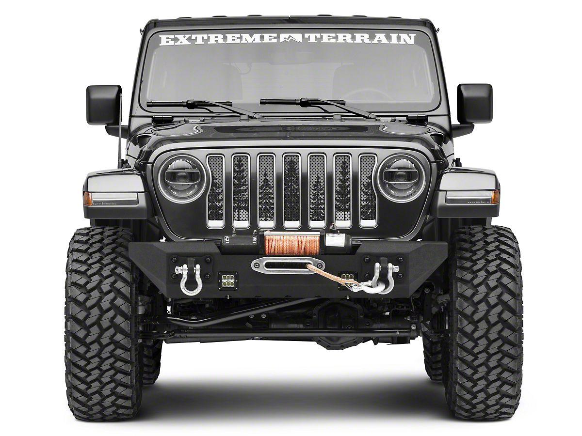 Grey Jeep Wrangler >> Under The Sun Jeep Wrangler Grille Insert Pine Trees Grey