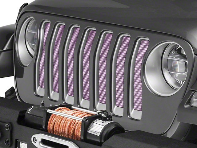 Under the Sun Grille Insert; Pink (18-20 Jeep Wrangler JL)