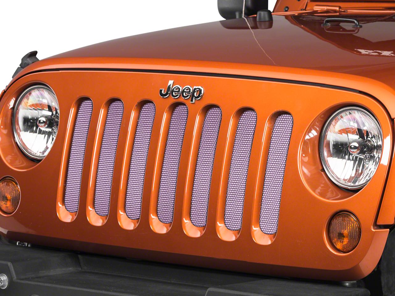 Under the Sun Grille Insert - Pink (07-18 Jeep Wrangler JK)