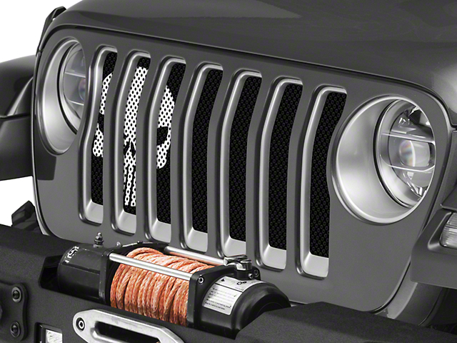 Under the Sun Grille Insert; Punisher Black and White (20-21 Jeep Gladiator JT)