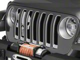Under the Sun Grille Insert; Punisher Black and White (18-20 Jeep Wrangler JL)