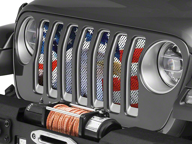 Under the Sun Grille Insert; Soaring High (18-20 Jeep Wrangler JL)