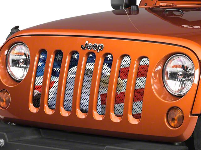 Under the Sun Grille Insert; Soaring High (07-18 Jeep Wrangler JK)