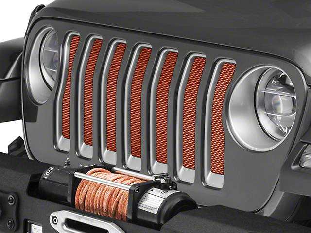 Under the Sun Grille Insert; Sunburst Orange Pearl (20-21 Jeep Gladiator JT)