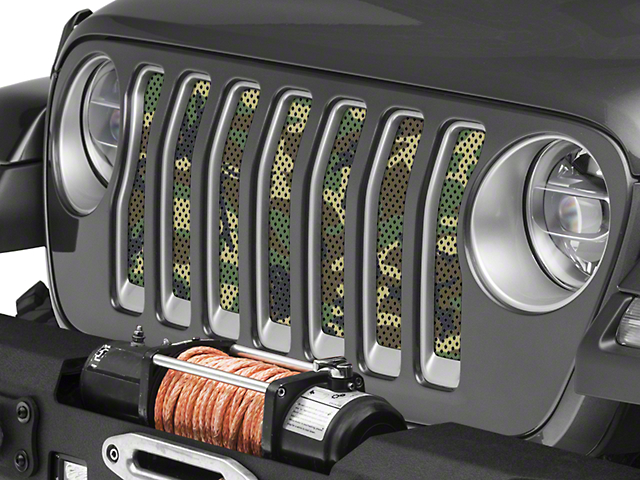 Under the Sun Grille Insert; Woodland Camo (20-21 Jeep Gladiator JT)