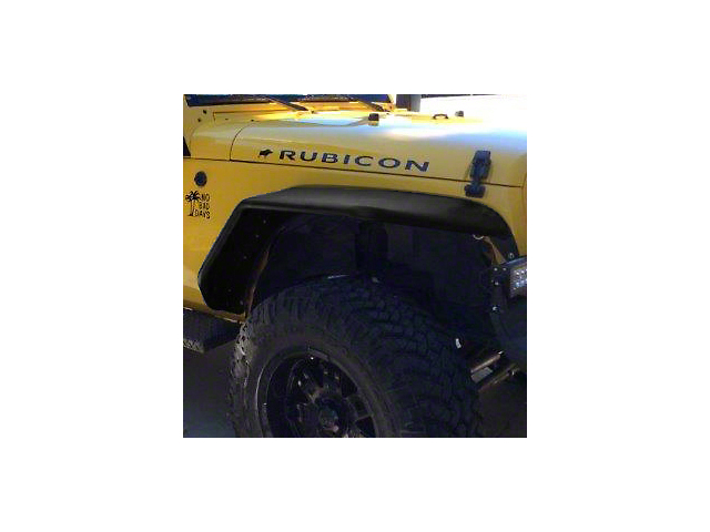 Hauk Off-Road Extra Wide Tube Fenders - Bare Steel (07-18 Jeep Wrangler JK)