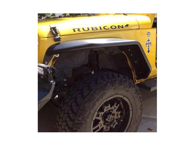Hauk Off-Road Extra Wide Tube Fenders - Epoxy Black (07-18 Jeep Wrangler JK)
